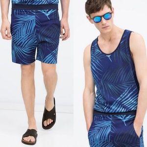 ZARA Men's Printed Bermuda Shorts
